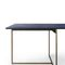 contemporary table / wooden / aluminum / marble