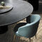 contemporary table / marble / round