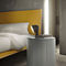 contemporary bedside table / wooden / marble / lacquered wood