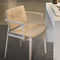 contemporary chair / with armrests / fabric / wooden
