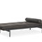 contemporary daybed / leather / metal / indoor