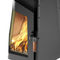 wood heating stove / design / central / steel