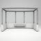 engineered stone bus shelter / galvanized steel / glass