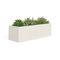 marble planter / natural stone / rectangular / contemporary