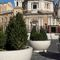 marble planter / natural stone / round / contemporary