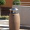 public trash can / stainless steel / galvanized steel / concrete