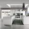 contemporary kitchen / laminate / island / matte