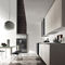 contemporary kitchen / glass / steel / handleless