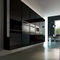 contemporary kitchen / glass / acrylic / island