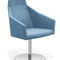 Contemporary visitor chair / with armrests / upholstered / swivel PARKER V by Kressel + Schelle Casala