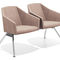 steel beam chair / fabric / 3-seater / 2-person