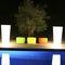 polyethylene garden pot / square / illuminated