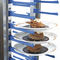 dessert service trolley / commercial / aluminum / plastic
