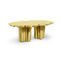 original design table / brushed brass / golden