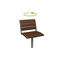 contemporary garden chair / swivel / metal / wooden