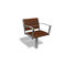 contemporary garden chair / with armrests / metal / wooden