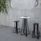 contemporary table / metal / HPL / square
