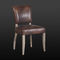 traditional chair / upholstered / leather