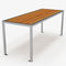 original design picnic table / wooden / galvanized steel / stainless steel