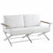 Contemporary sofa / garden / aluminum / synthetic leather OSKAR by Eric Carrère SIFAS