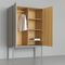 contemporary wardrobe / solid wood / MDF / with swing doors