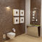 countertop washbasin / rectangular / marble / stainless steel