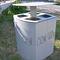 public trash can / steel / galvanized steel / contemporary