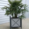 steel planter / wooden / polyethylene / square