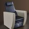 synthetic leather pedicure chair / with footrest / white