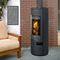 wood heating stove / contemporary / central / ceramic