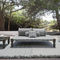 double bed / contemporary / upholstered / lacquered aluminum