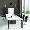 contemporary boardroom table / walnut / rectangular / modular