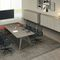 Contemporary boardroom table / glass / wood veneer / round RAIL Bralco