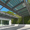 self-supporting conservatory / glass / steel / stainless steel