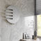 hot water towel radiator / electric / aluminum / copper