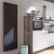 hot water radiator / steel / contemporary / vertical