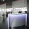 bar counter / wooden / semicircular / illuminated