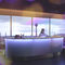 Bar counter / wooden / semicircular / illuminated MOREE
