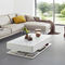 Contemporary coffee table / glass / rectangular / with storage compartment ORA HOME MOREE