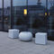 contemporary side table / composite / cube-shaped / outdoor
