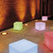 contemporary side table / plastic / cube-shaped / commercial