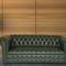 Chesterfield sofa / leather / 2-person / 3-seater