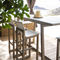 contemporary high bar table / teak / HPL / rectangular
