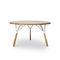 Lacquered metal table base / wooden / contemporary / residential STAMMTISCH 2 by Alfredo Häberli Quodes