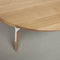 lacquered metal table base / wooden / contemporary / residential