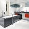oval bathtub / Corian® / resin / marble