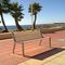 public bench / contemporary / steel / cast aluminum