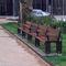 public bench / garden / contemporary / wooden