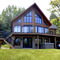 Prefab house / log / contemporary / timber frame house CLASSIC : NORTHCLIFF TIMBER BLOCK