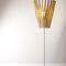 floor-standing lamp / contemporary / metal / wooden